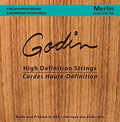 Godin Guitars 039920 Seagull Merlin Bronze Acoustic Guitar Strings, Custom