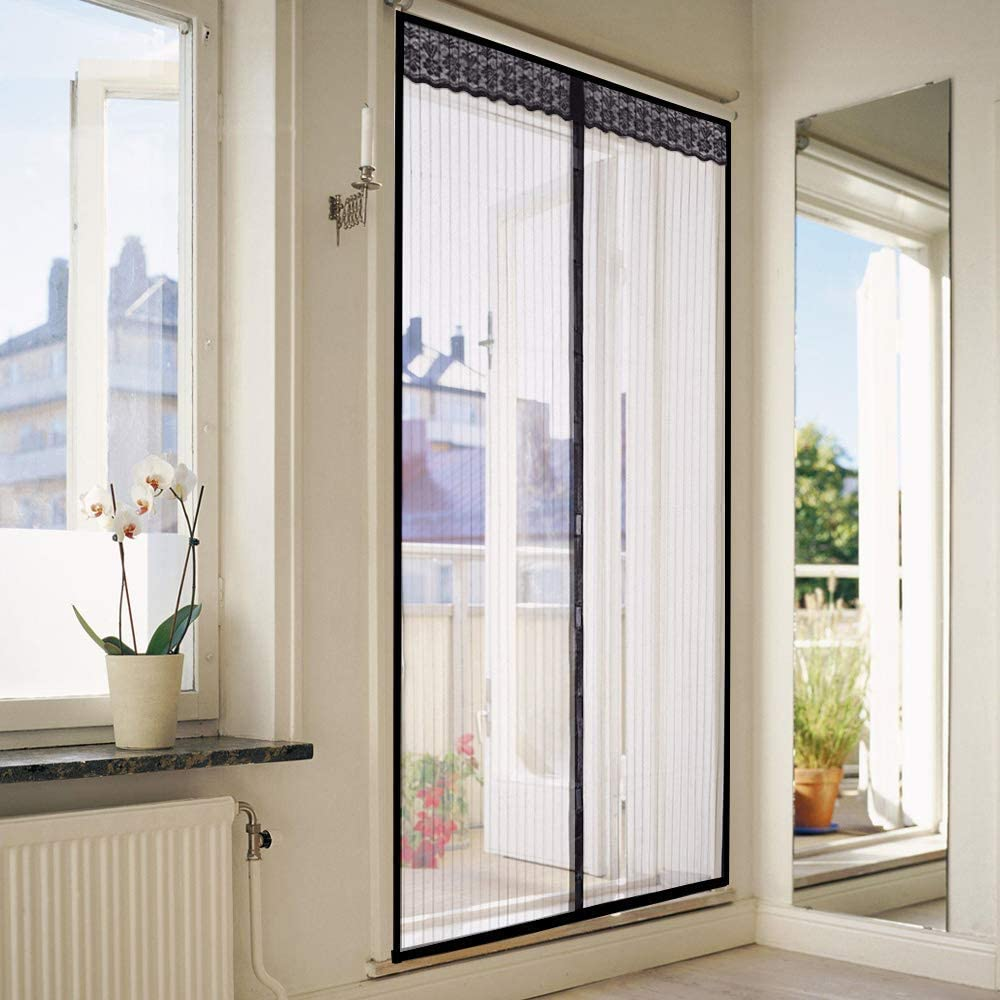 Home-Neat Magnetic Screen Door with Heavy Duty Mesh Curtain and Full Frame Hook/&Loop Fits Door Size up to 34-83 Max