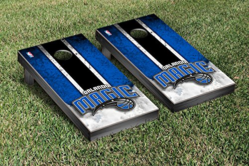 Orlando Magic NBA Basketball Regulation Cornhole Game Set Vintage Version by Victory Tailgate