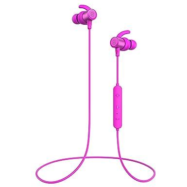 SoundPEATS inalámbrico Bluetooth auriculares a prueba de sudor ajuste seguro auriculares inalámbricos estéreo con micrófono (