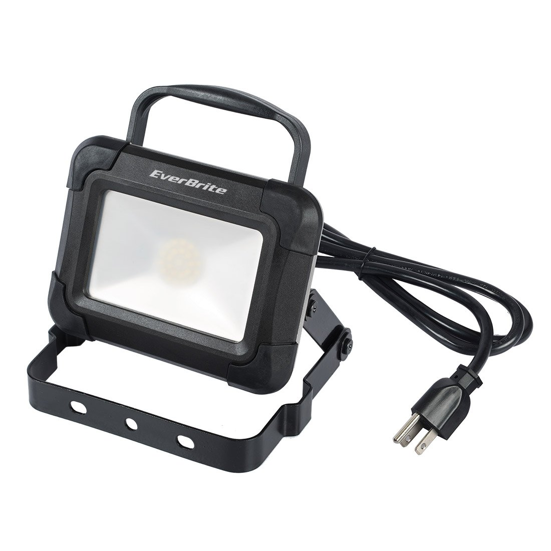 EverBrite Work Light 1000 Lumen 13W Super Bright LED Flood Light with Folding Stand Hook Impact Resistance with 6FT Power Cord
