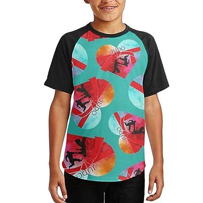 I Love Judo Youth Short Sleeves Raglan Print Baseball T Shirts Tees