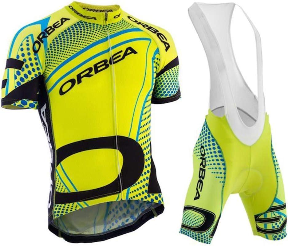 Wulibike Ensemble Maillot et Cuissard Cyclisme Homme Tenue Compl/ète Cycliste Pro Manches Courtes