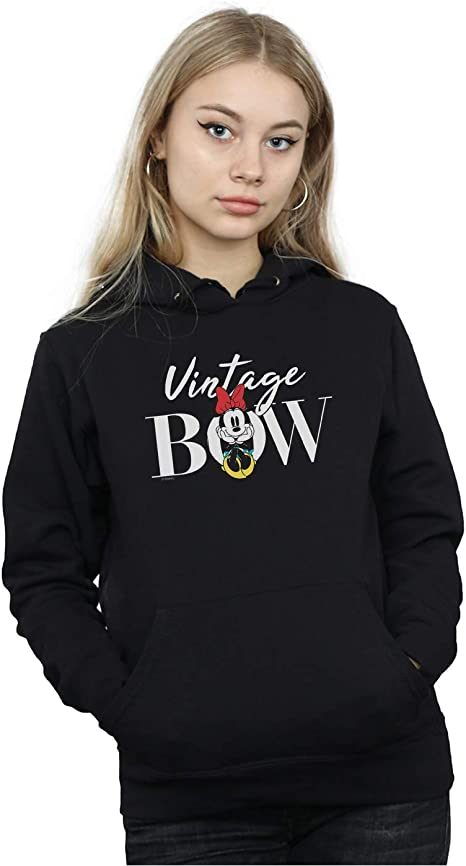 Disney Girls Minnie Mouse Vintage Bow Hoodie