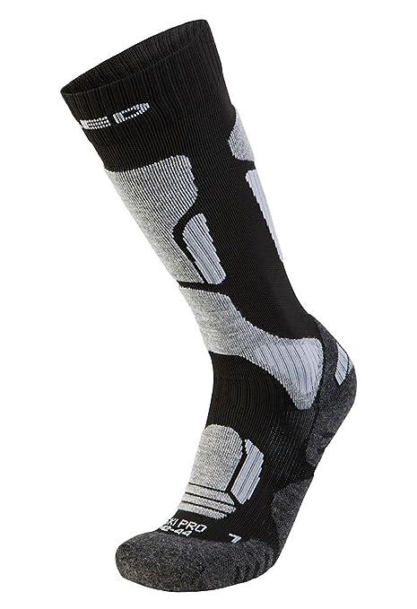 XAED - Calcetines de esquí profesional ergonómicos para hombre (39/41, negro/