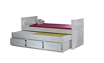 Amani Captain Guest Single Slat Bed With Trundle And Storage 3