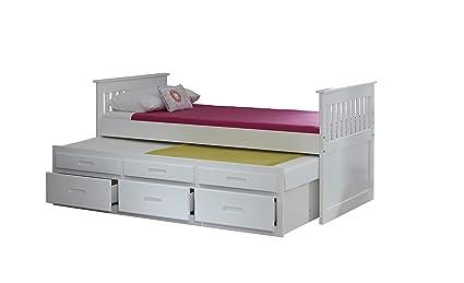 Capitanes bajo cama en color blanco con 2 colchones FLEX SPRING