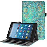 Fintie Case for All-New Amazon Fire HD 8 Tablet (7th and 8th Generation Tablets, 2017 and 2018 Releases) - [Multi-Angle Viewing] Folio Stand Cover with Pocket Auto Wake/Sleep, Shades of Blue
