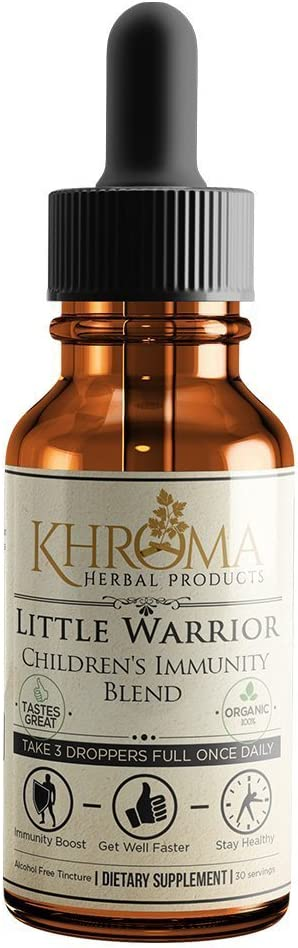 Little Warrior - Organic Children's Immunity Booster - 2 oz Delicious Liquid Supplement - by Khroma Herbs