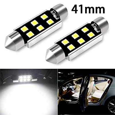"CIIHON 41MM 42MM LED Festoon Bulb 1.72"" 211-2 212-2 578 Error Free Canbus 6-3030SMD 800LM Interior Dome Map Lights 6000K White No Polarity Replacement Pack of 2: Automotive"