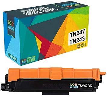 Do it Wiser- Cartucho de Tóner TN 243BK Compatible para Usar en ...