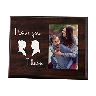Elegant Signs Funny Newlywed Cute Picture Frame for Couples That says I Love You, I Know