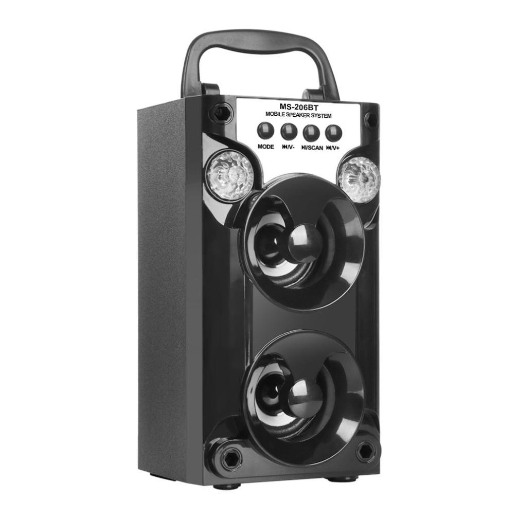 YRD Tech Voice Box Outdoor Wireless Portable Speaker Super Bass with USB/TF/AUX/FM Radio (Black )
