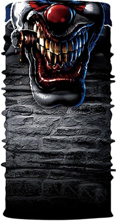 Blue Print Rauchen Clown Face Maske Tube Halstuch Sturmhaube Snowboard Moto X Face Schutz Harley Davidson Snowboard Ski Maske Multi Funktion Tactical Nahtlos Sport Freizeit