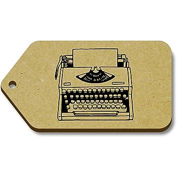 Azeeda 10 x Máquina de Escribir 66mm x 34mm Regalo/Equipaje Etiquetas (