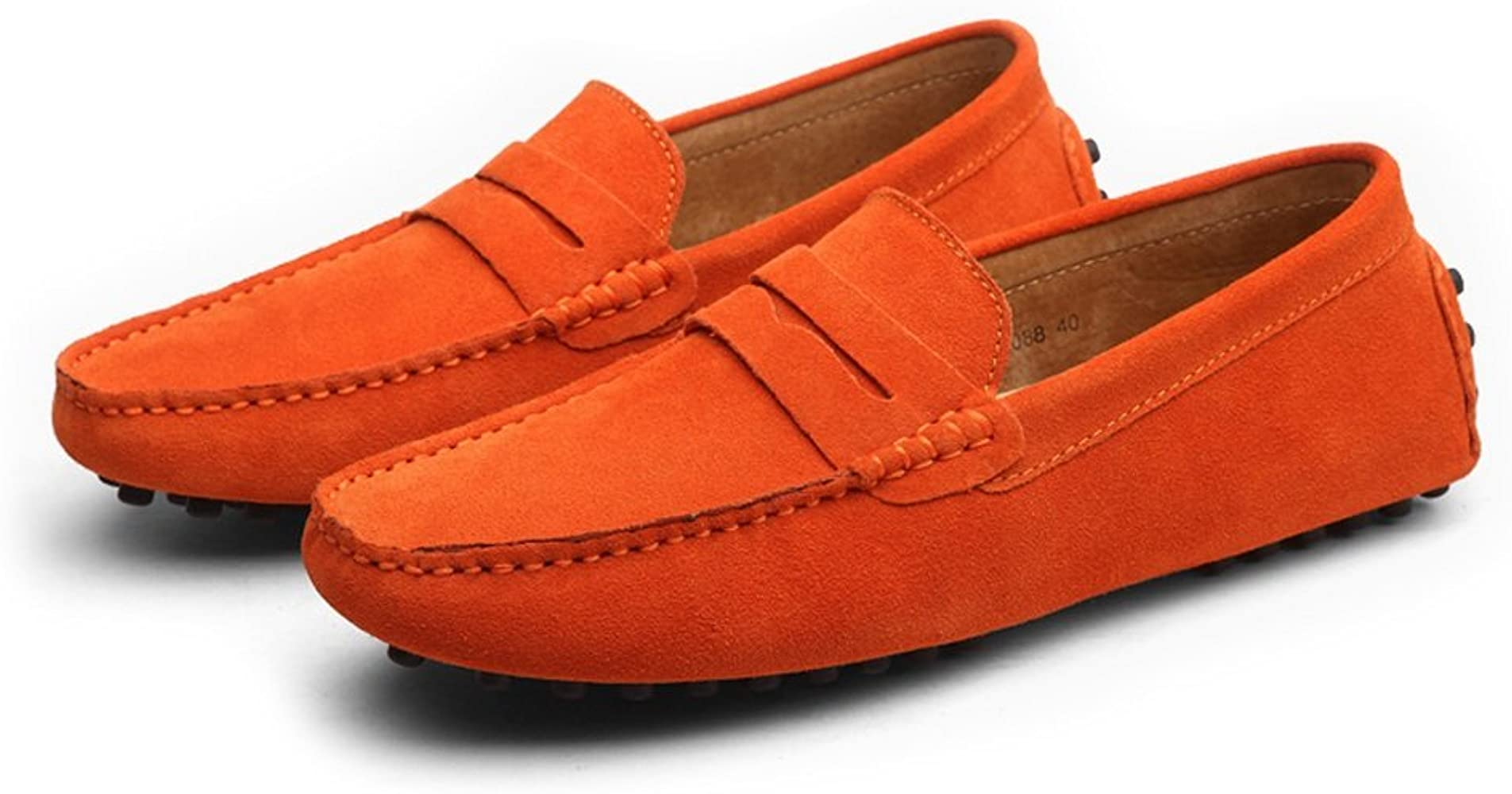 Z.L.F Mens Oxford Shoes Driving Penny Moccasins Genuine Leather Classic Shoes Soft Rubber Sole Boat Loafers