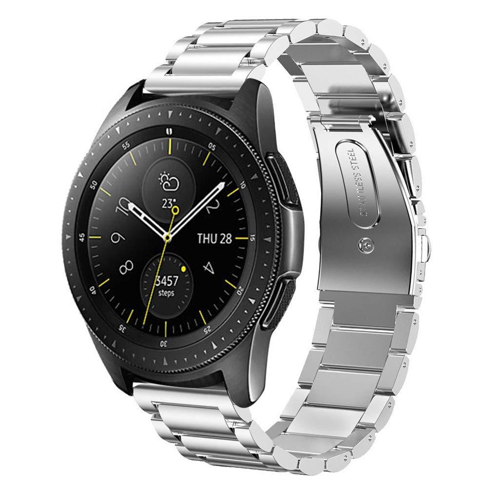 Minfex サムスン Galaxy Watch バンド 42mm / 46mm 20mm ステンレススチール 交換用バンド アクセサリー ストラップ サムスン Galaxy Watch SM-R810/SM-R800用 46mm シルバー B07GWM9N19 シルバー 46mm