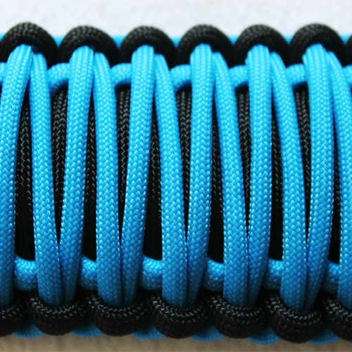 Bartact TAOGHUPBZ - Universal Paracord Grab Handles (PAIR) - Made in USA - BLACK/COSMOS BLUE