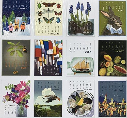 """2017 Linnea Design Desktop Calendar Bundle 5"""" X 7"""" with"""
