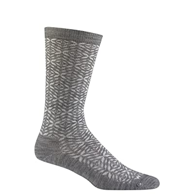 Wigwam Men's Tik Tak Merino Wool Tik Pattern Everyday Crew Length Sock