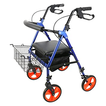 Andadores para discapacidad rollator de Cuatro Ruedas de aleación de Aluminio de Drive Medical,Freno