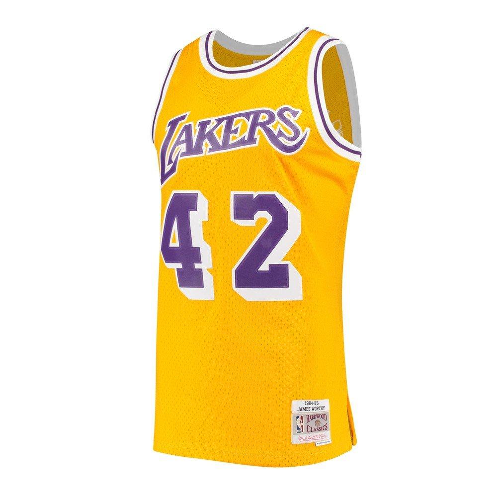 01c5b53dcfc Amazon.com : Mitchell & Ness James Worthy Los Angeles Lakers NBA Gold 1984-85  Hardwood Classics Swingman Jersey Men : Sports & Outdoors
