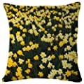 Pillowcase Hillside Of Daffodils Louisville Kentucky - Decorative Personalized Throw Pillow Cover - Soft Microfiber Polyester (Double sided printing) 18x18 Inches