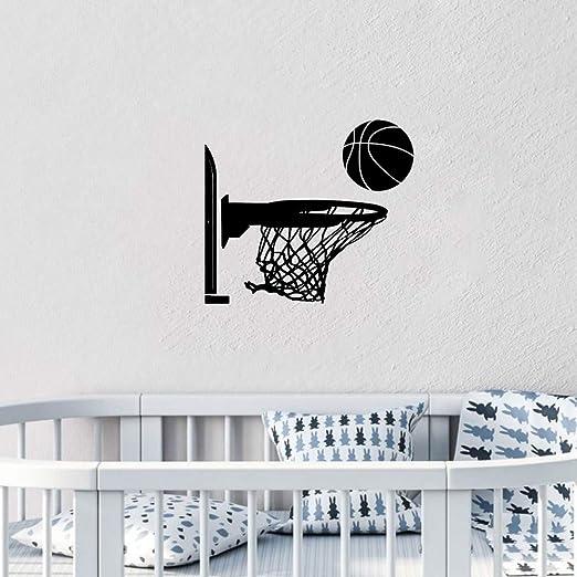 pegatina niño Baloncesto pelota deportiva y borde de red para los ...