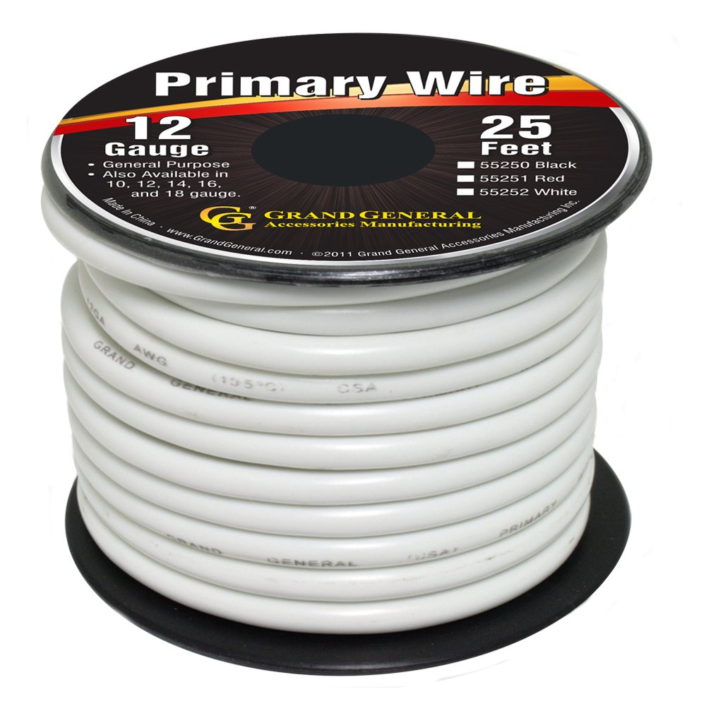 Amazon.com: Grand General 55251 Red 12-Gauge Primary Wire: Automotive