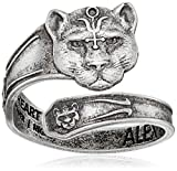 Alex and Ani Spoon Wild Heart Sterling Silver Sterling Silver Ring, Size 7-9