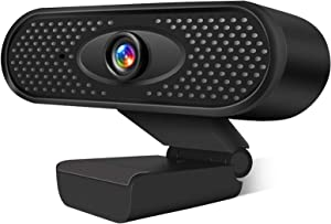 Webcam HD 1080P USB Camera PC Camera with Internal Microphone for Online Meetings Plug and Play Face Camera with Manual Focus for PC, Desktop or Laptop