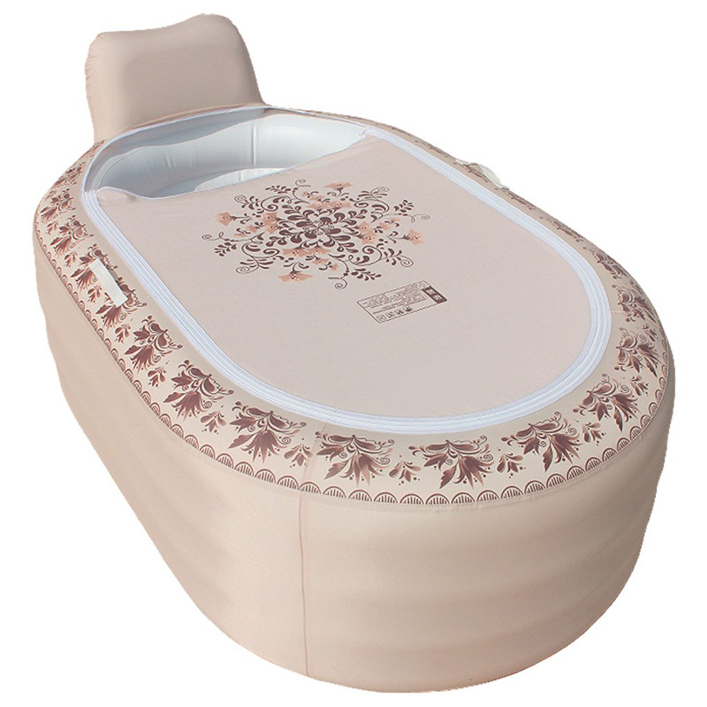 Xiao Hong Home European rectangular covered plastic folding inflatable bathtub adult bath tub 65 41 30 inches