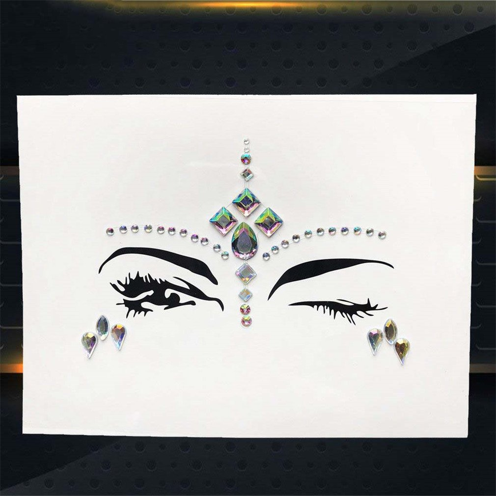 Amazon.com   Hot Sale Temporary Eye Gems Tattoo Stickers Girls Xmas Gifts  Women Eyeliner Decor Flash Face Colorful Rhinestone Jewel Evening PXBS05    Beauty 076ad40e2e19
