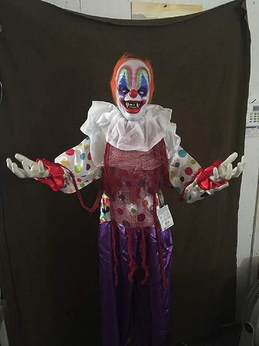 Creepy Clown Halloween Decorations.Amazon Com Ghi Halloween Talking Creepy Clown With Animated
