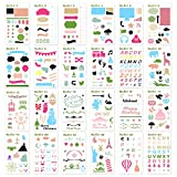 KEDIOR Bullet Journal Stencils Plastic Planner Supplies for Journaling,Notebook,Diary,Scrapbook,24PCS DIY Drawing Stencil Template 4x7 inch