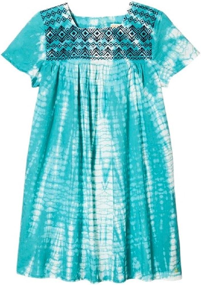Pink Chicken Happy Blue Tie Dye A Line Toddler Dress 4Y