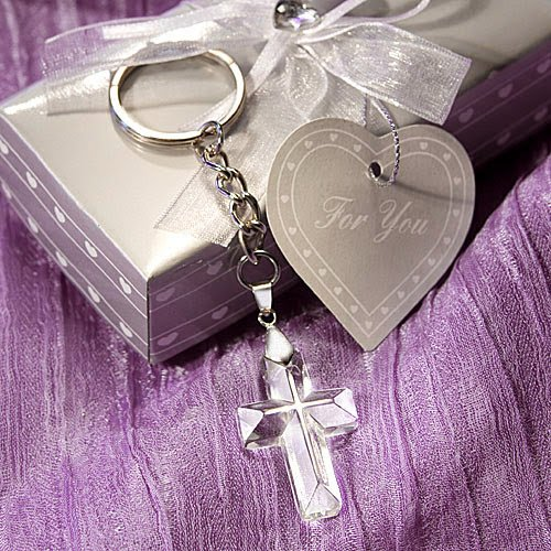 40 Choice Crystal Cross Key (Choice Crystal Cross Keychains)