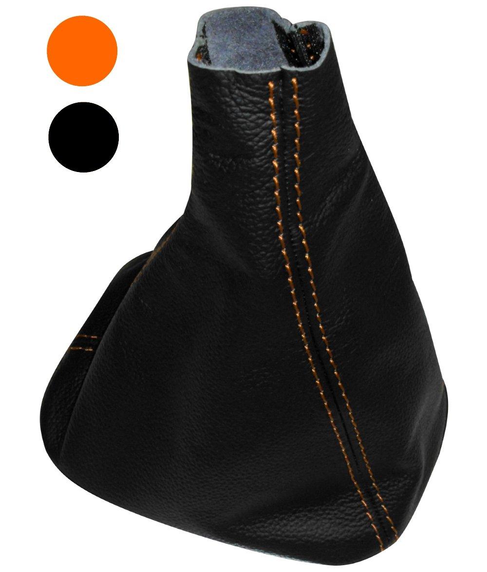 Funda para palanca de cambios 100/% Piel genuina negro con costuras de colores variables Negro AERZETIX