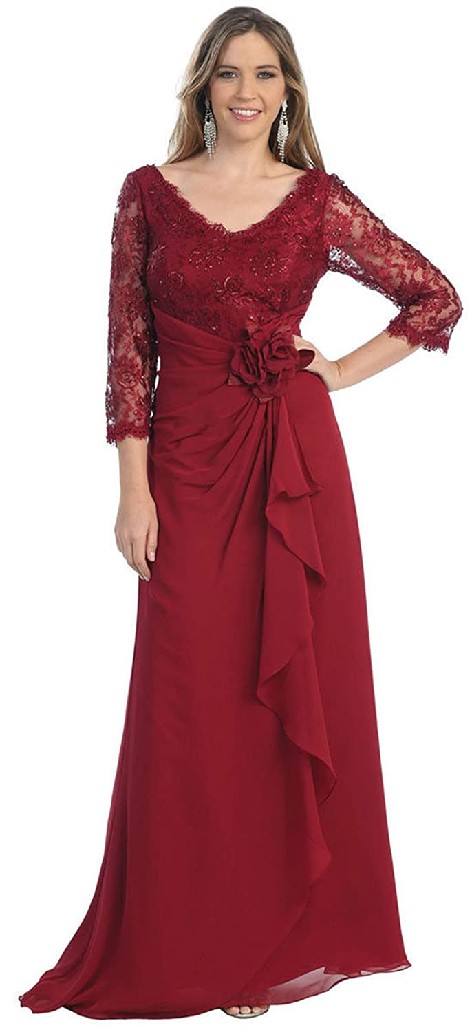 May Queen MQ813 Long Sleeve Mother of The Bride Dress at Amazon Womens Clothing store: