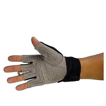 Ludage Guantes de fitness Gimnasio Fitness guantes hombres y mujeres transpirable con mancuernas aparato fuerza guantes
