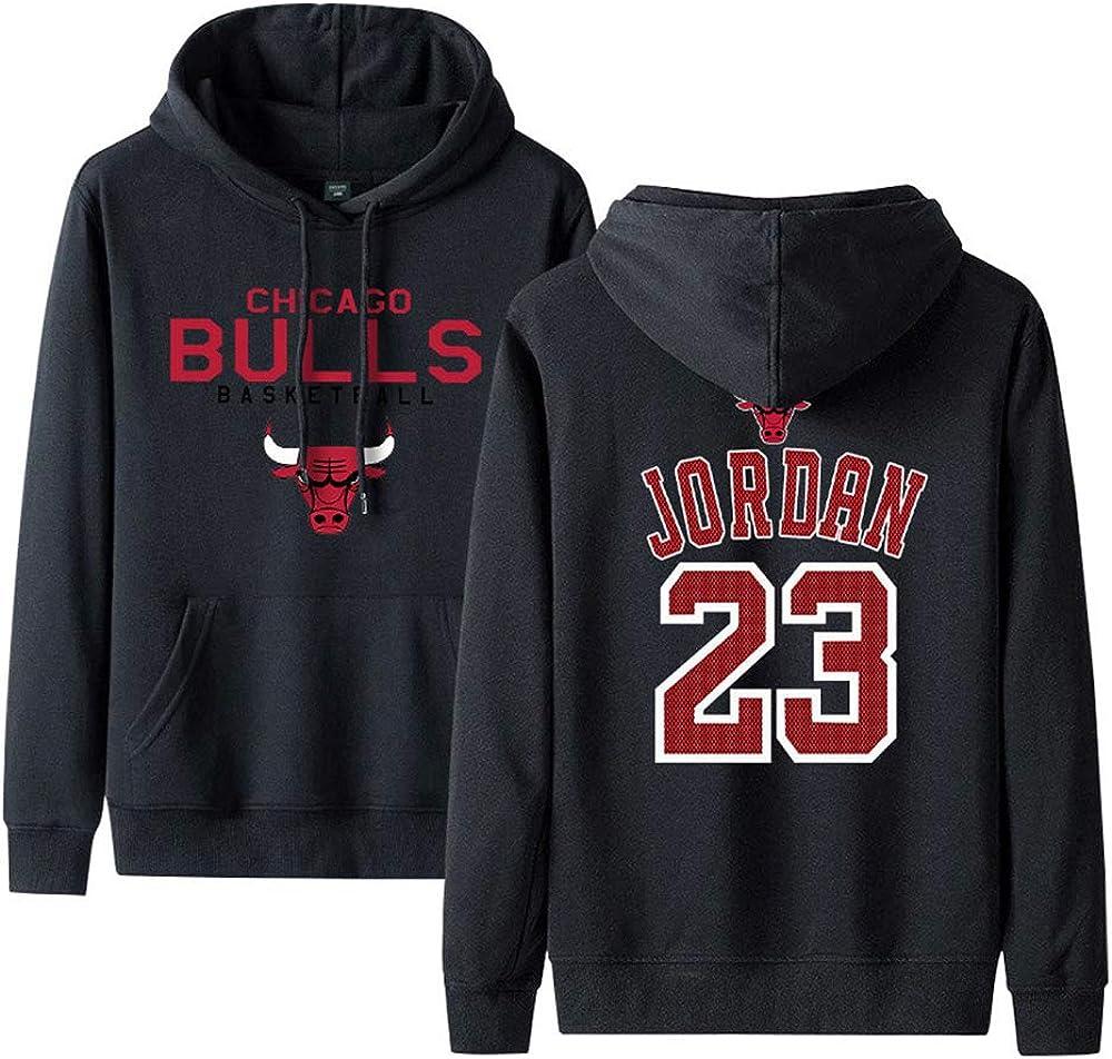 Chandail de Basket-Ball Hommes Printemps et en Automne Hiver Pull /à Capuche HEJX Bulls 23 Sweat /à Capuche