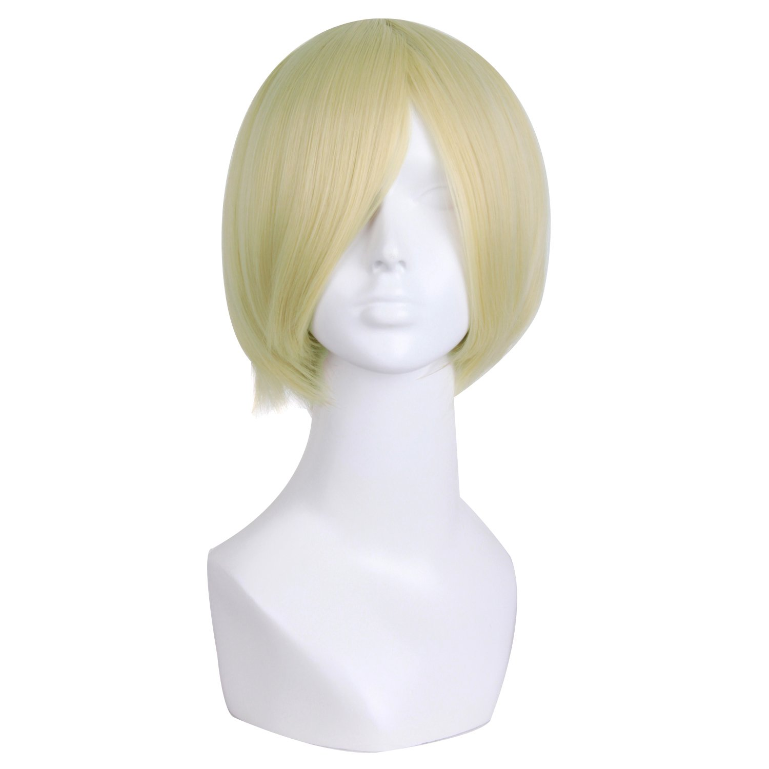 MapofBeauty 12/30cm Short Straight Cosplay Costume Wig Party Wig (Mixed Blue)