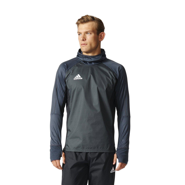 Adidas Tiro 17 Mens Soccer Warm Top M Dark Grey Black White