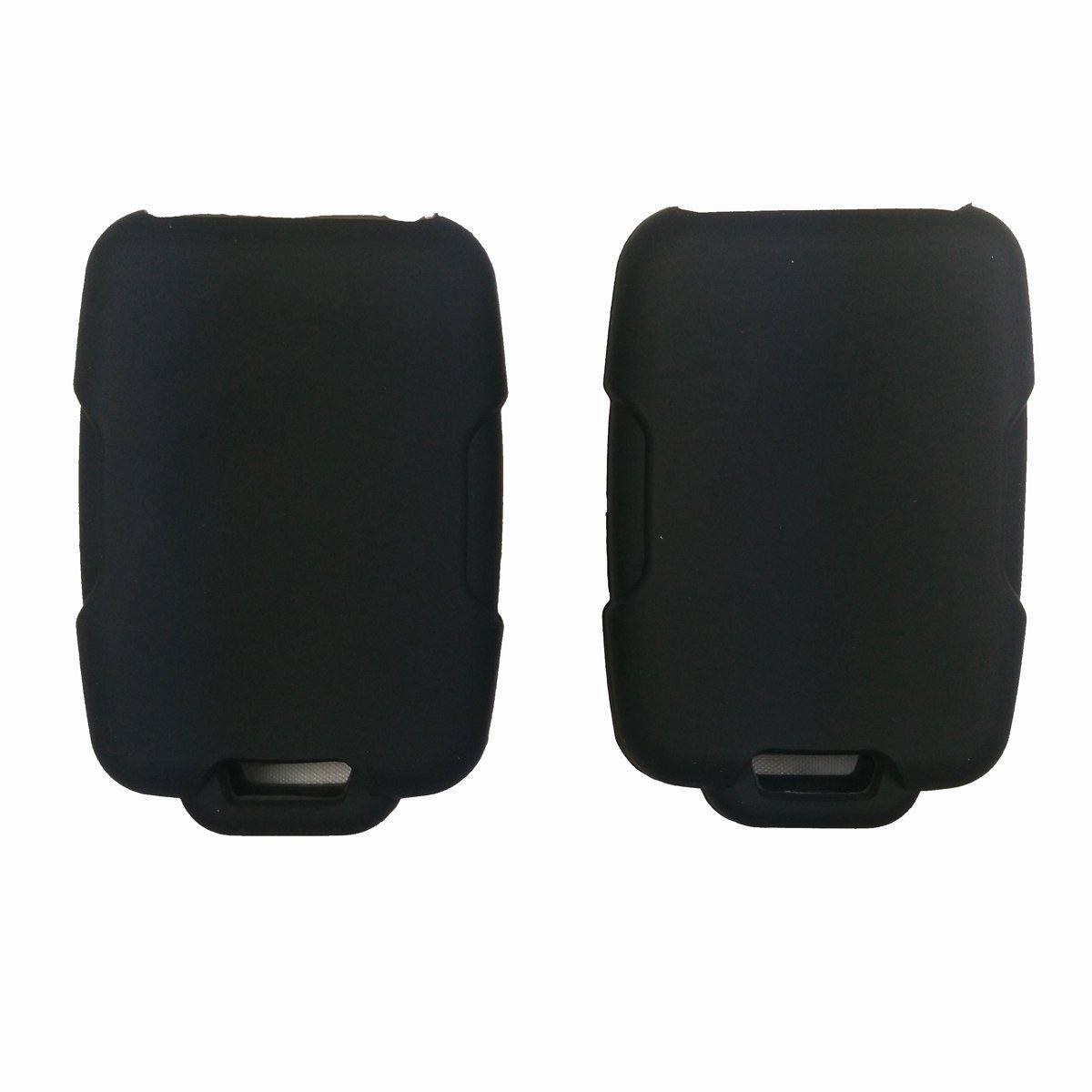 Coolbestda 2Pcs Rubber Key Fob Keyless Entry Protector Case Jacket Holder for 2018 Chevrolet Chevy Silverado Colorado GMC Canyon Sierra Yukon Cadillac M3N32337100