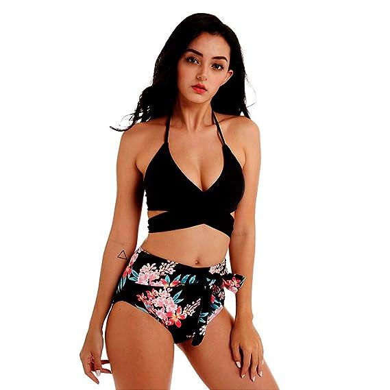abc7e7d9219b Luckycat Traje de natación para Mujer Bikinis Mujer 2019 Traje de ...