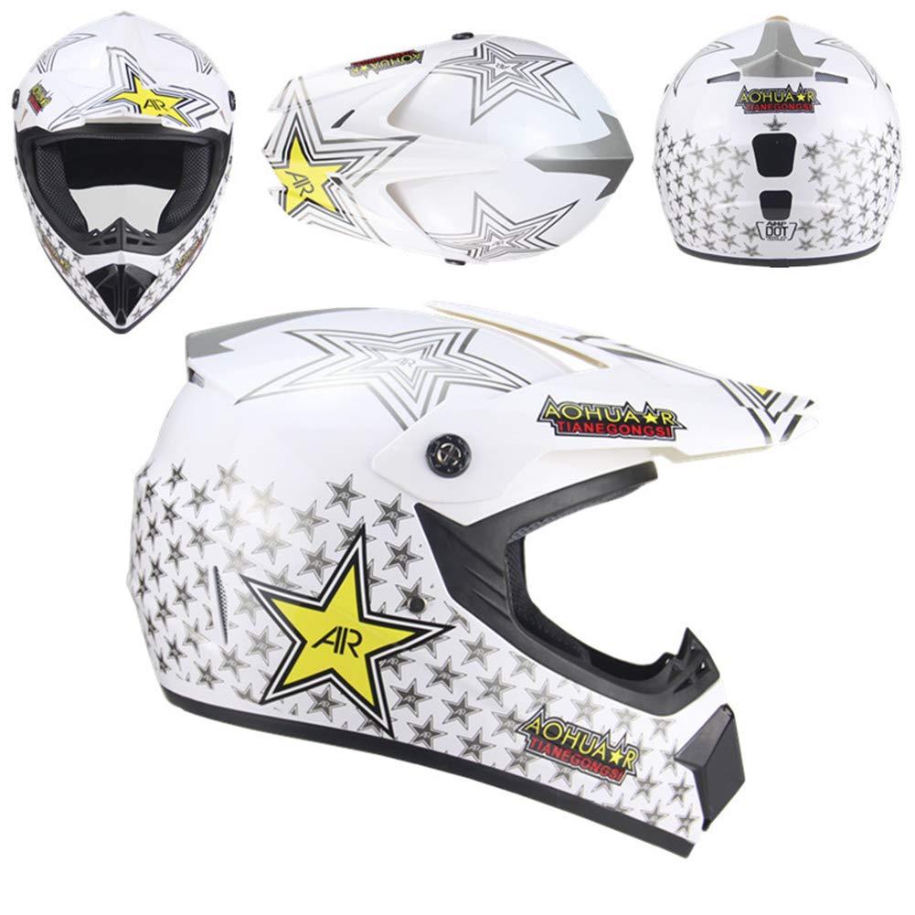 Helmet8 Medium AOSHE Casque de Motocross, Casque de Motocross Cross-Country Tout-Terrain VTT, Casque Tout-Terrain, Unisexe,Helmet1,XL