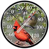 American Made Cardinal Large Dial Thermometer Round USA