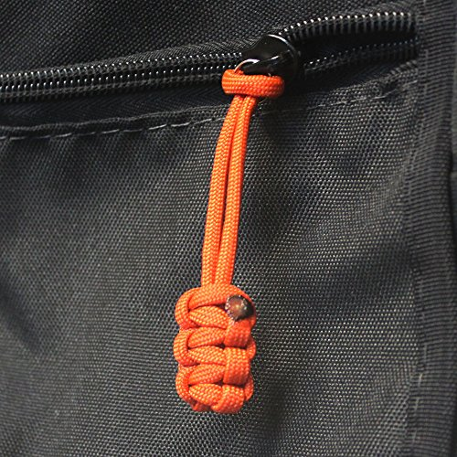 Bartact (Qty 5 550 Universal Nylon Paracord Zipper Pulls (Mango Orange)