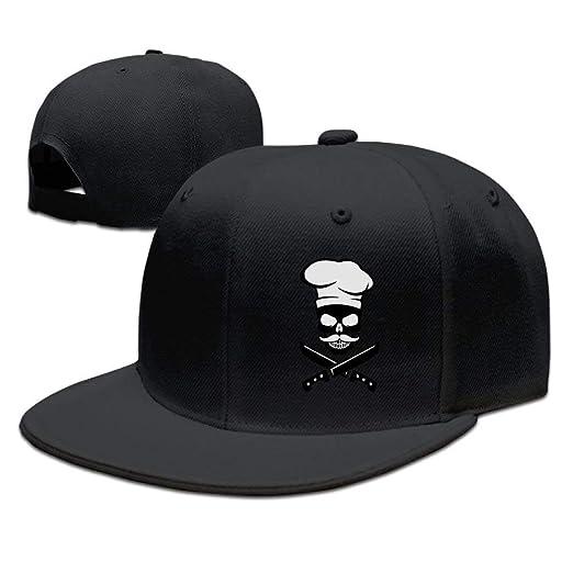 30ced5e14c5 Amazon.com  Fashion Cooking Skull Chef Mustache Unisex Skull Hat ...