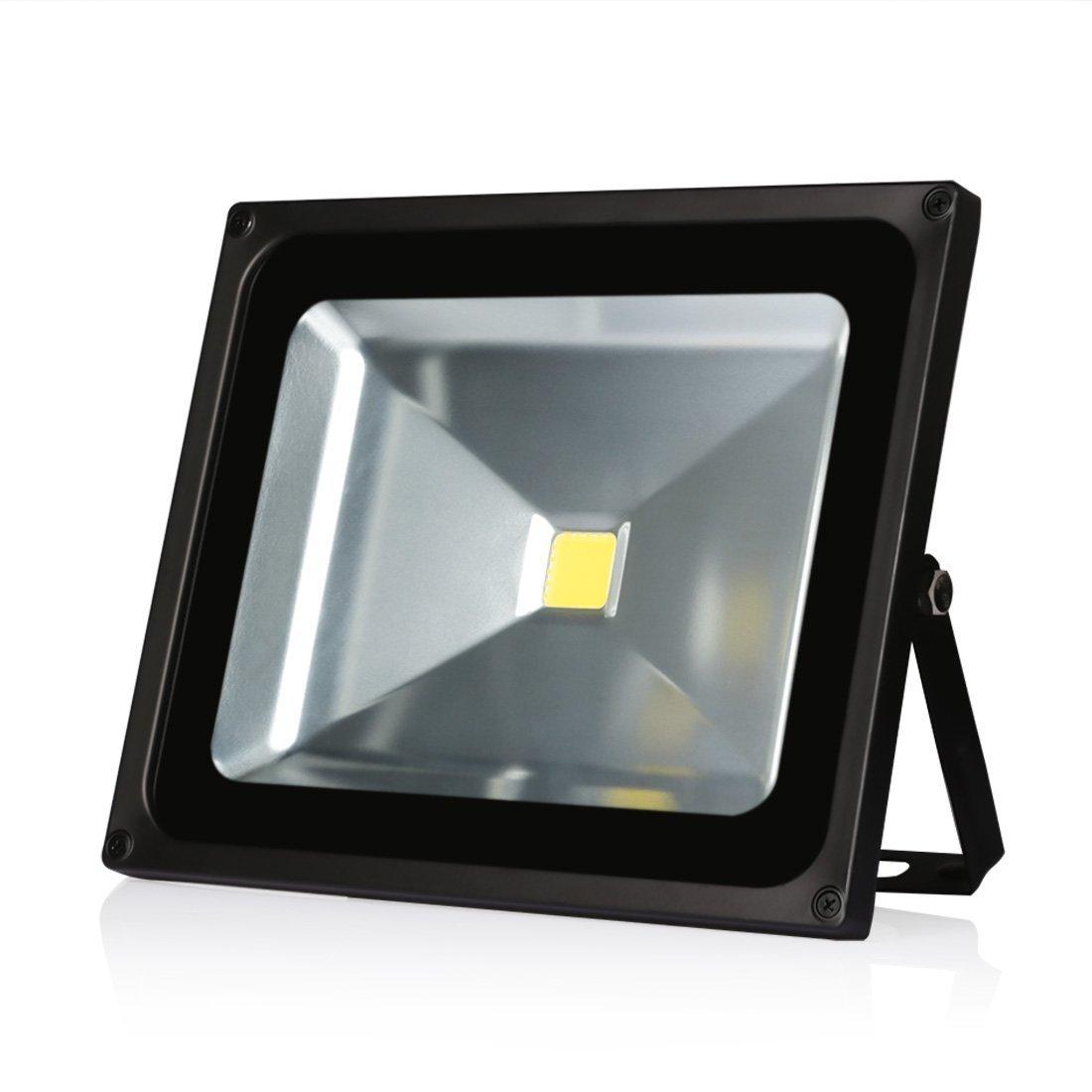 Ledmo LEDフラッドライト、防水規格ip65屋外、デイライトホワイト、6000 K、4000lm、投光照明 30W EZ853 B015DK1SKM 14876 30W  30W